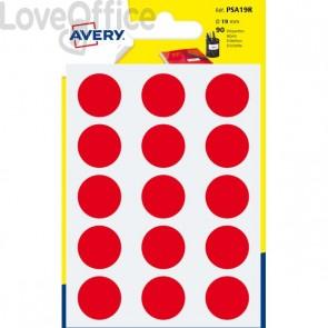 Etichette rotonde in bustina Avery - Rosso - diam. 19 mm - PSA19R (90)