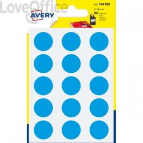 Etichette rotonde in bustina Avery - Celesti - diam. 19 mm - PSA19B (90)