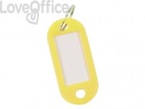 Targhetta portachiavi Q-Connect standard in plastica 5x2,2 cm giallo/arancio Confezione da 10 pezzi - KF10873