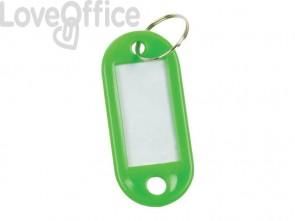 Targhetta portachiavi Q-Connect verde in plastica 5x2,2 cm verde Confezione da 10 pezzi - KF10871