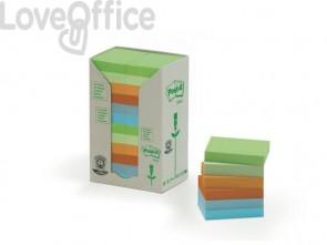Foglietti Post-it® Notes in carta riciclata assortiti pastello - 653-1RPT (conf. da 24 blocchetti da 100 ff)