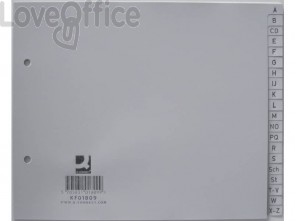 Divisori alfabetici Q-Connect A-Z metà altezza 22,5x18 cm KF01809 (20 pagine)