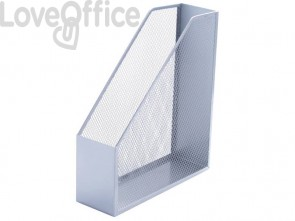 Portariviste in metallo Q-Connect 9,5x29,5x25,8 cm argento KF00845