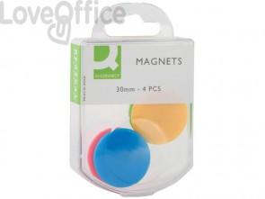 Magneti per lavagne bianche Q-Connect 30 assortiti 30 mm - KF02041 (conf. da 4)
