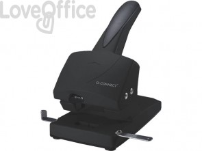 Perforatore per alti spessori a 2 fori Q-Connect nero 65 fogli KF01237