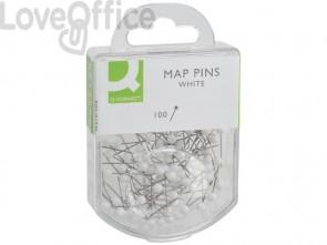 Spilli cartografici Q-Connect 15 mm bianco conf. da 100 - KF15279
