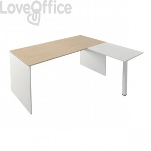 Allungo per scrivania Linea operativa Witoffice LineKit - top bianco/struttura bianca - 70x50 cm
