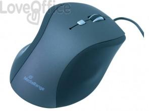 Mouse ottico Media Range 5 pulsanti con cavo 2400 dpi nero/grigio MROS202