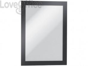 Cornici con pannello magnetico DURABLE DURAFRAME® MAGNETIC A5 PVC rigido nero 174x236mm - 494701 (conf. 5)