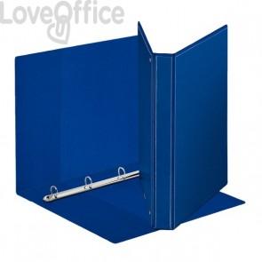 Esselte raccoglitore ad anelli personalizzabile Display - R - dorso 3,4 cm - Ø 25 mm - A4 maxi - blu