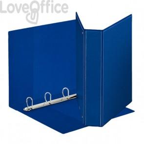 Esselte raccoglitore ad anelli personalizzabile Display - D - dorso 7,1 cm - A4 maxi - blu