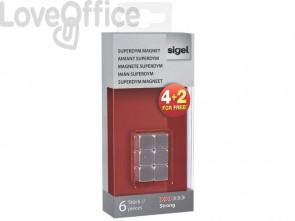 Magneti Sigel SuperDym C5 cubo strong argento - GL192 (conf. da 4+2)