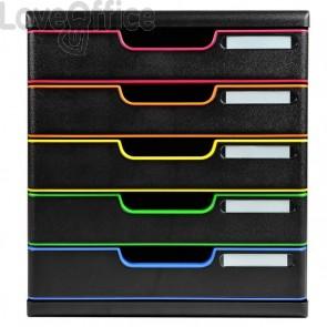 Cassettiere Modulo A4 Exacompta - 5 - nero/arlecchino - nero/arlecchino - 5,4 cm - 5,4 cm - 301914D