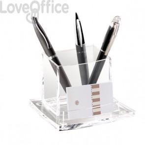 Bicchiere portapenne Acrylight CEP -  trasparente - 11,5x10,5x8,3 cm - 440C