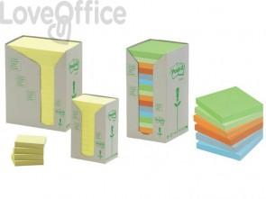 Foglietti Post-it® Notes Giallo in carta riciclata - 653-1T (conf. da 24 blocchetti da 100 ff)