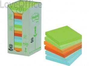 Foglietti Post-it® Notes in carta riciclata assortiti pastello - 654-1RPT (conf. da 16 blocchetti da 100 ff)