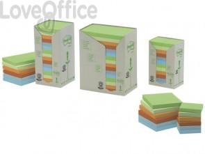 Foglietti Post-it® Notes in carta riciclata assortiti - 655-1RPT (conf. da 16 blocchetti da 100 ff)