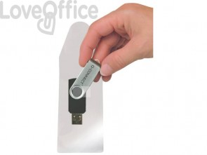 Bustina porta USB Q-Connect plastica trasparente - KF22350 (conf.10)