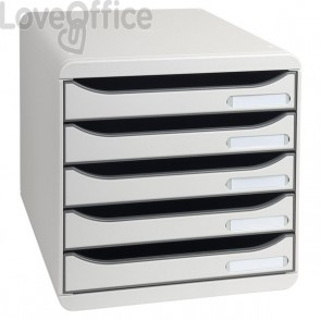 Cassettiera Big Box Plus Exacompta - grigio chiaro - 5 cassetti - 309740D