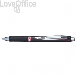 Penna gel Energel Permanent - rosso - BLP77-BX (conf.12)