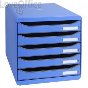 Cassettiera Big Box Plus Exacompta - blu ghiaccio - 5 cassetti - 309779D