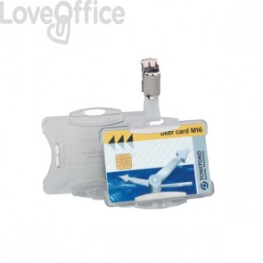 Portabadge per carte magnetiche Durable - 5,4x8,5 cm - 8118-19 (conf.25)