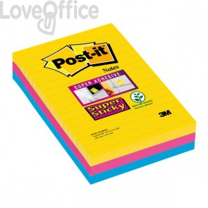 Foglietti Post-it® Super Sticky Formato XXL a righe Post-It - - 4690SS3RIO (conf.3)