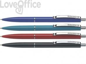 Penna a sfera a scatto Schneider K 15 ricaricabile tratto M blu conf. da 50 - 3083