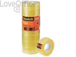 Nastro adesivo Scotch® 508 15 mm x 33 m trasparente - 508-1533S (torre da 10 rotoli)