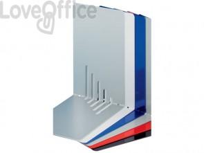 Reggilibri MAUL acciaio grigio 140x140x85mm 3501082 (conf.2)