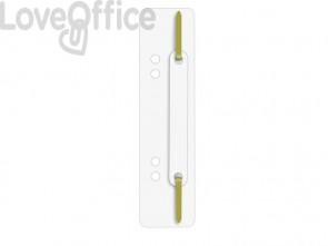 Pressini fermafogli adesivi Q-Connect 34x150 mm bianco - 2012500010 (conf.25)
