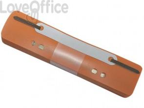 Pressini fermafogli adesivi Q-Connect 34x150 mm arancio - 2012500610 (conf.25)