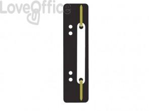 Pressini fermafogli adesivi Q-Connect 34x150 mm nero - 2012500810 (conf.25)