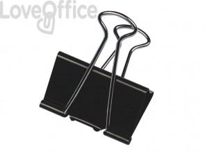 Molle Double Click Q-Connect Foldback nero 51 mm conf. da 10 - KF01286