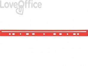 Dorso a foratura universale per stampati Q-Connect 30 cm rosso - KF02284 (scatola da 100)