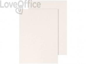 Copertina per rilegatura Q-Connect A4 250 g/m² bianco goffrato conf. 100 pezzi - KF00502