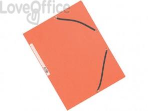 Cartelline a 3 lembi con elastico Q-Connect Arancio 24,3x32 cm cartoncino manilla 375 g/m² (conf. da 10)