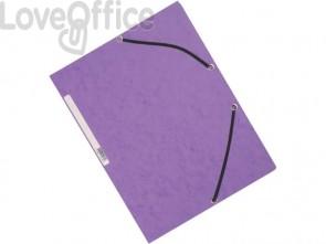 Cartelline a 3 lembi con elastico Q-Connect Viola 24,3x32 cm cartoncino manilla 375 g/m² (conf. da 10)
