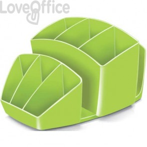 Portaoggetti da scrivania verde anice CEP - 14.3 x 15.8 H 9.3 cm - 1005800301