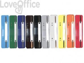 Pressini fermafogli adesivi Q-Connect 34x150 mm assortiti - 2102502011 (conf. da 250)