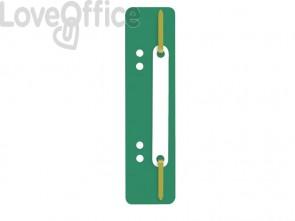 Pressini fermafogli adesivi Q-Connect 34x150 mm verde - 2012500110 (conf.25)