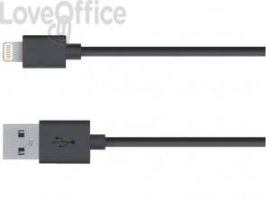 Cavo di ricarica e sincronizzazione Media Range USB 2.0/Apple Lightning 1m nero - MRCS137