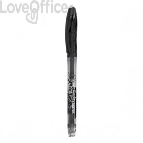Penna cancellabile Gelocity illusion gel Bic - 0,7 mm - nero - 943441 (conf.12)