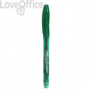 Penna cancellabile Gelocity illusion gel Bic  - 0,7 mm - verde - 943443 (conf.12)