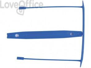 Clip fermafogli Q-Connect blu passo 8 cm conf. 100 pezzi