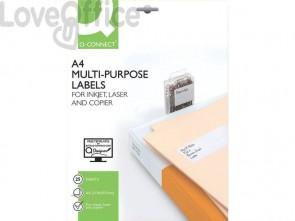 Etichette universali Q-Connect bianco 210x297 mm conf. da 25 etichette - KF01759