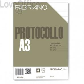 Fabriano Fogli protocollo uso bollo - a righe con margini - 66 g/mq (conf. 200)