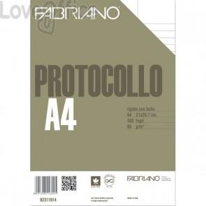 Fabriano Fogli protocollo uso bollo - a righe con margini - 80 g/mq (conf. 500)