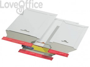 Buste rigide per spedizioni ColomPac in cartone ondulato f.to 17,5x25 cm bianco (conf. da 20)