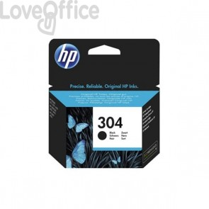 Originale HP N9K06AE Cartuccia inkjet 304 1 nero